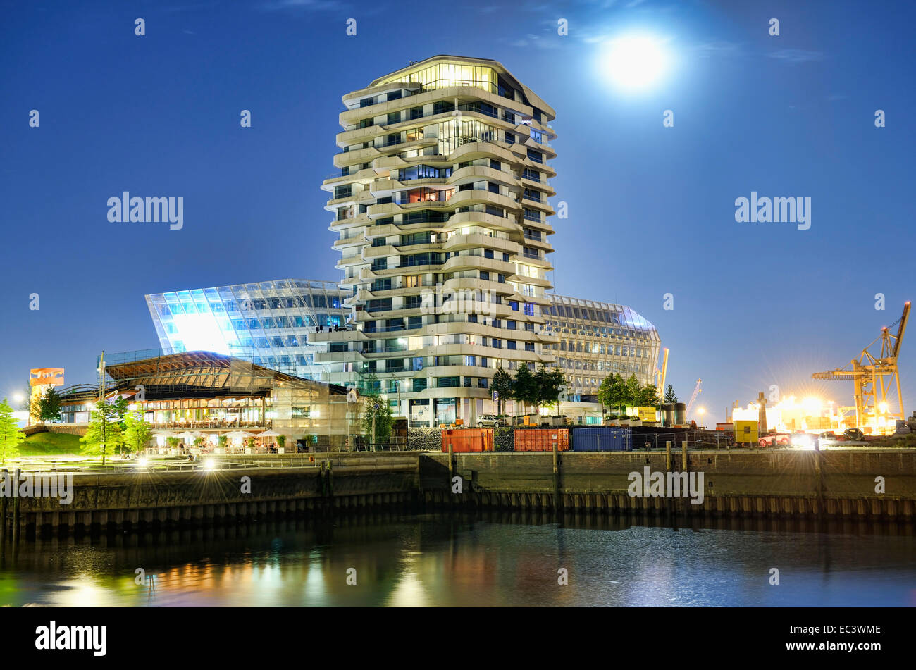 Marco Polo Tower and Unilever building in Hamburg, Germany - Stock Image