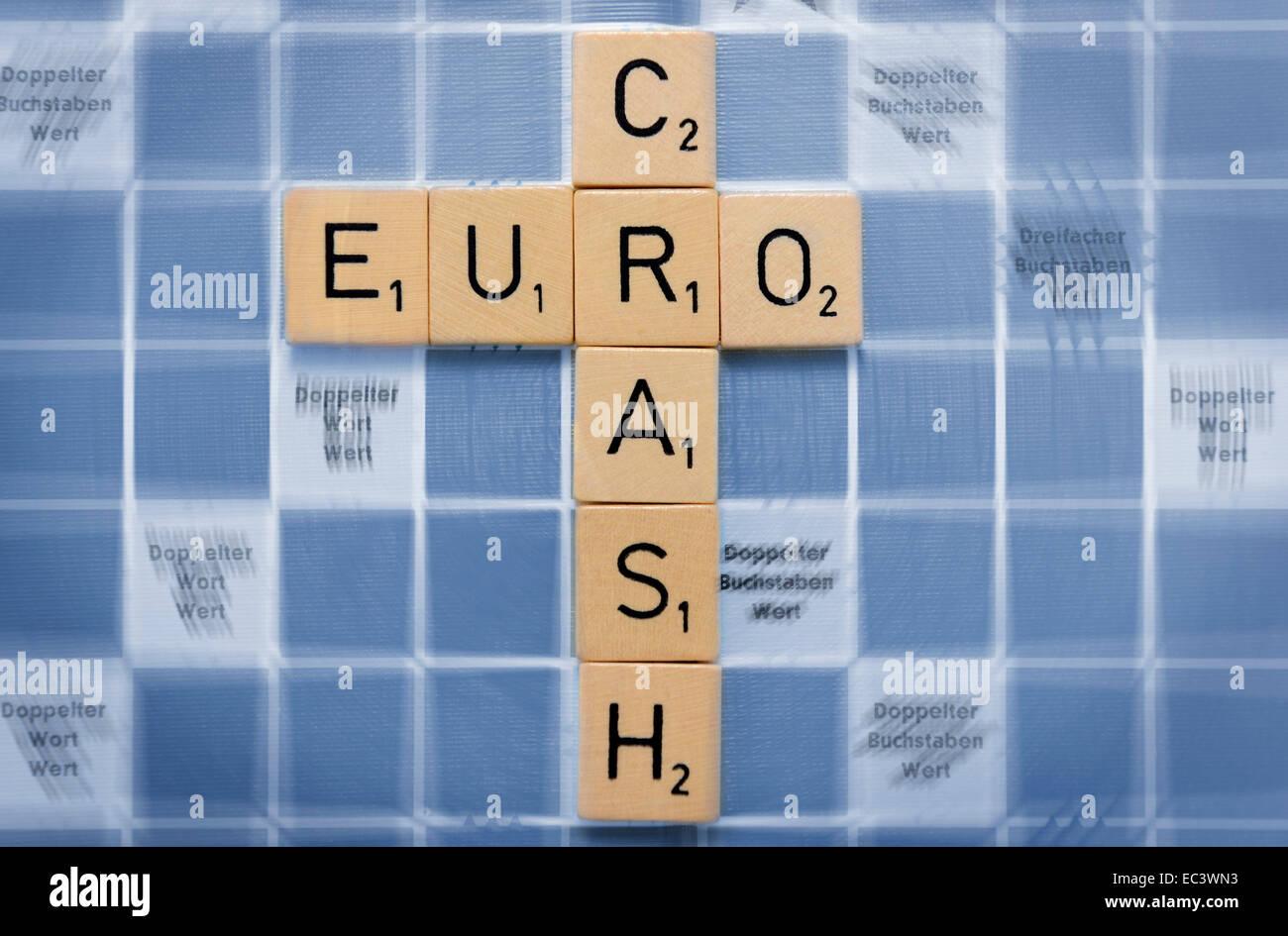 Euro crash Stock Photo