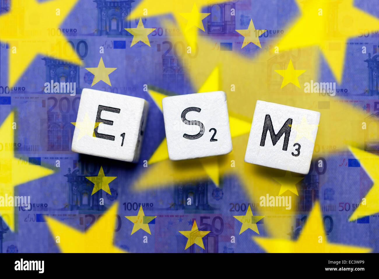 ESM, European Stability Mechanism - Stock Image