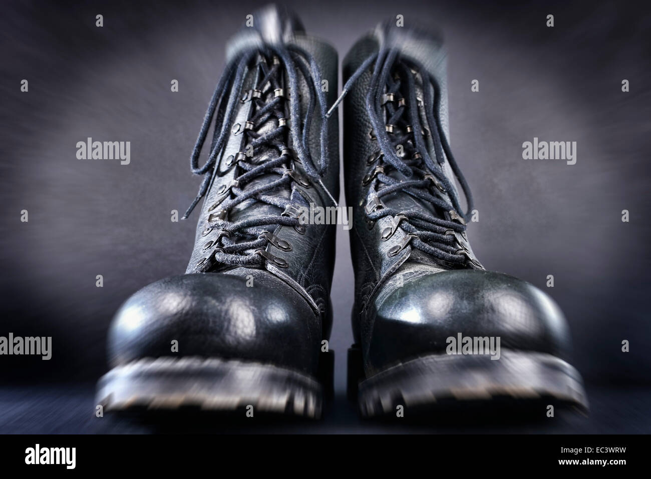 Combat boots, right-wing extremism - Stock Image