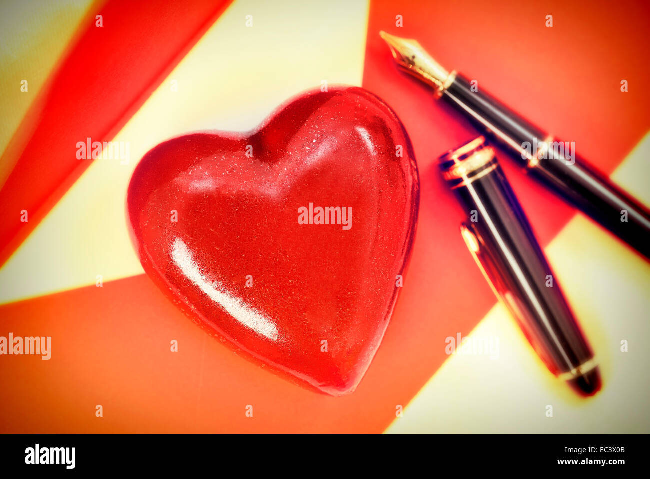 Letter and red heart, Valentine s Day Stock Photo: 76303595   Alamy