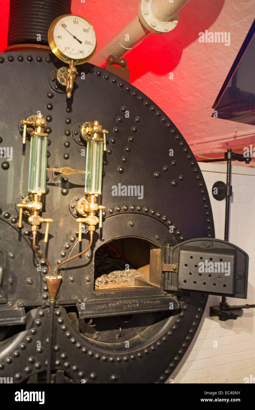 Titanic Engine Room Coal: The Boiler Room Within The Tower Bridge Museum Where Steam