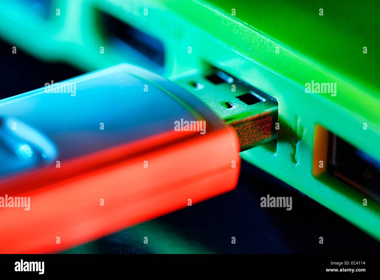 USB flash drive - Stock Image