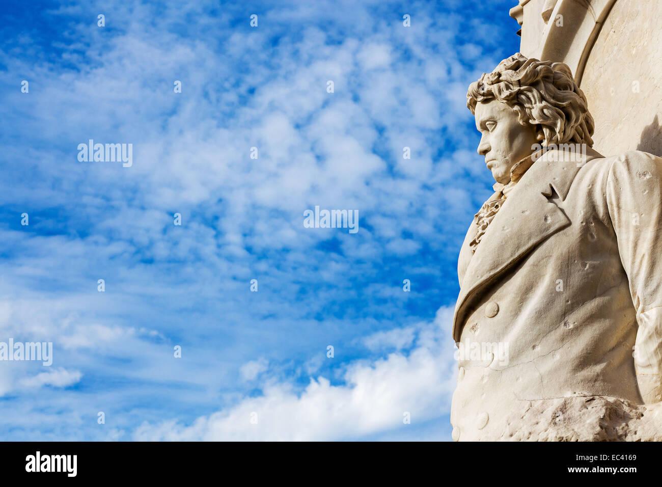 Beethoven-Haydn-Mozart Denkmal im Berliner Tiergarten - Stock Image