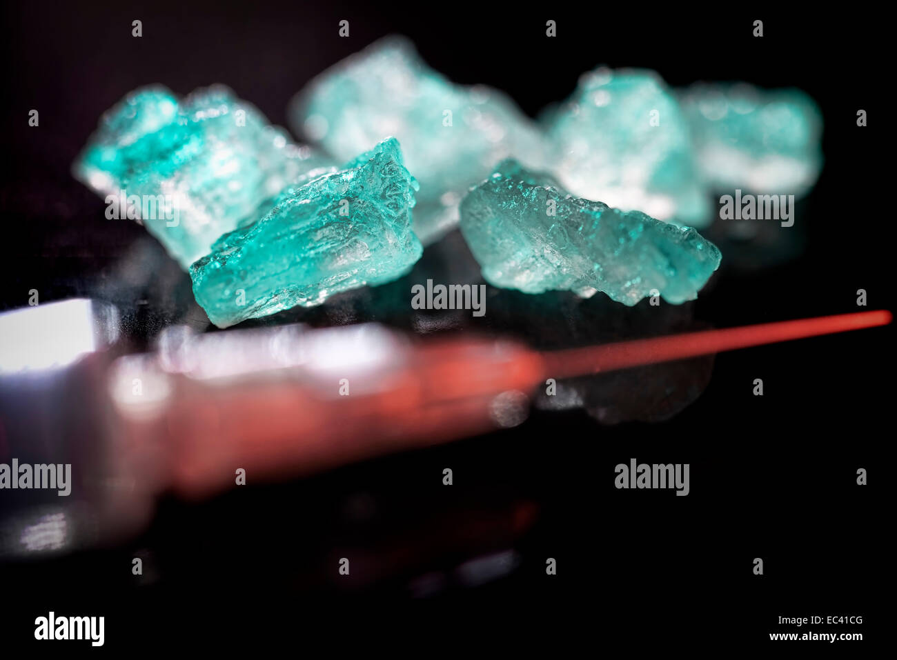 Crystal meth, symbolic picture - Stock Image