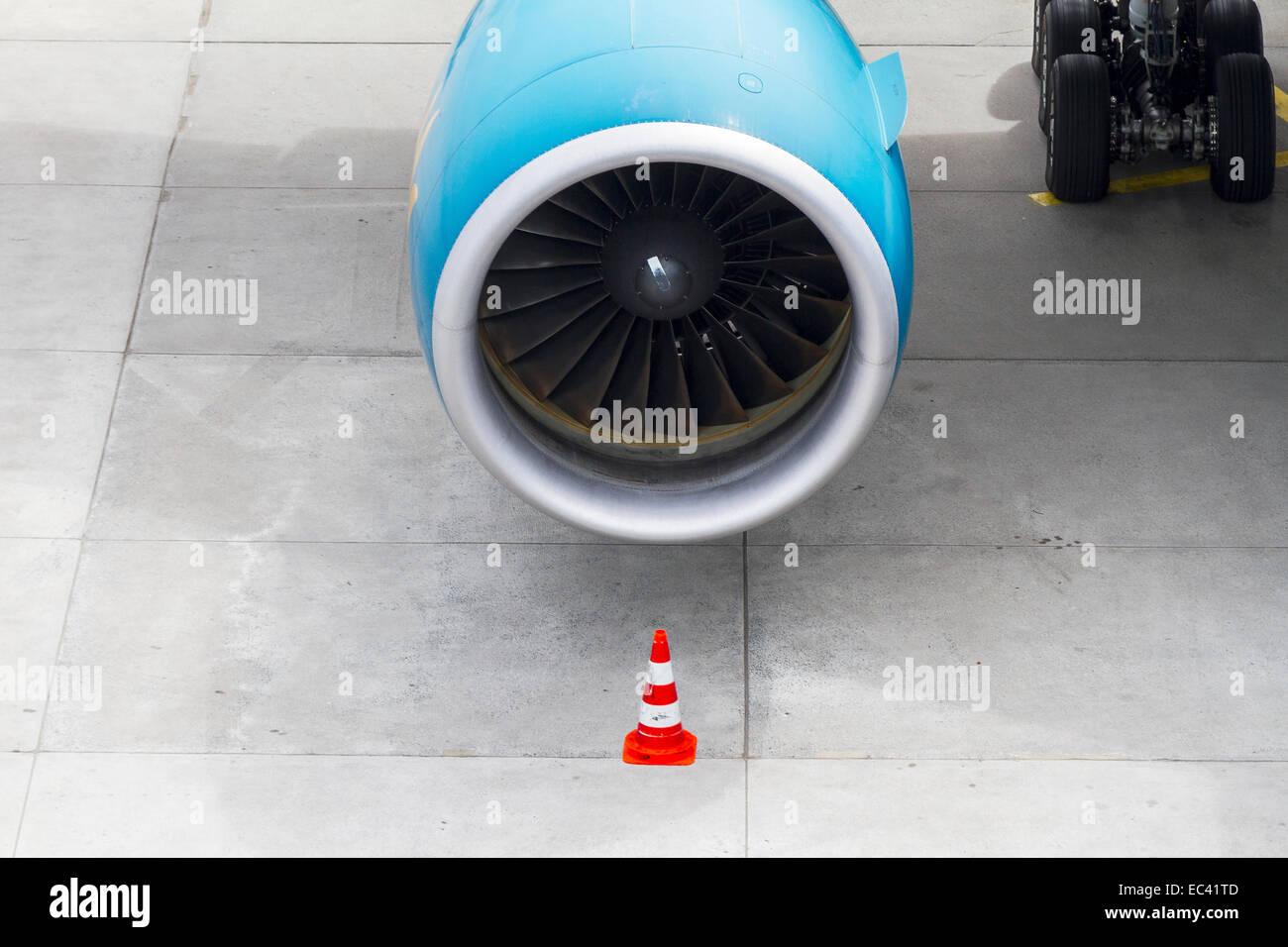 Turbine of a jet plane - Stock Image