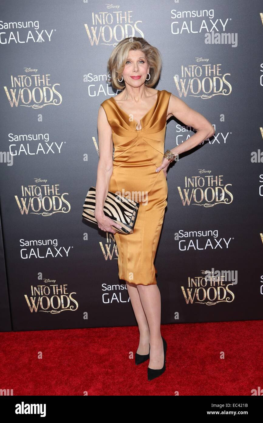 Christine Baranski At Arrivals For Into The Woods World Premiere The Ziegfeld Theatre New York Ny December 8 2014 Credit Andres Otero Everett
