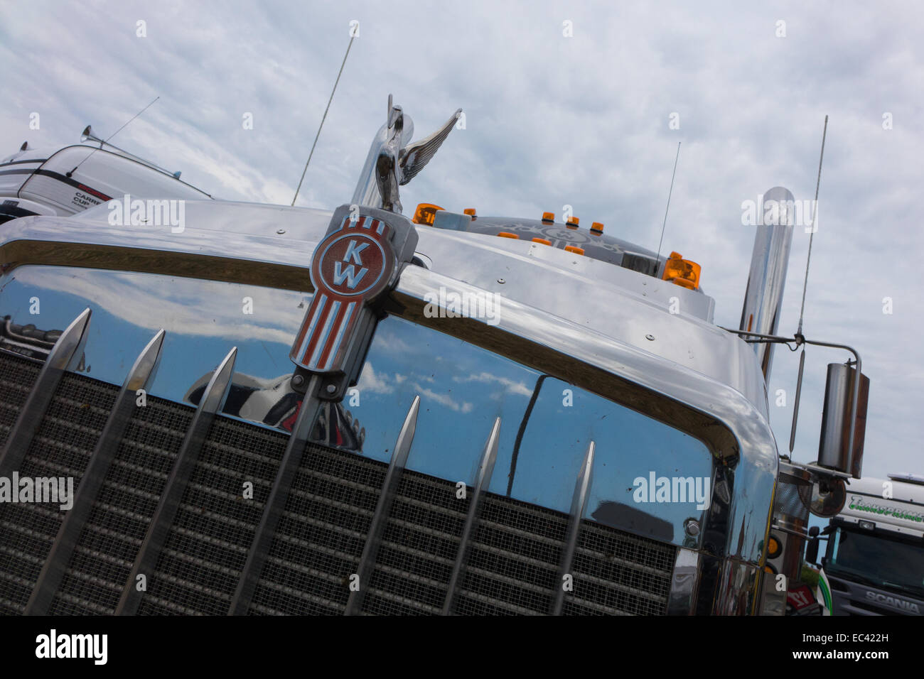 Kenworth truck at the Locomotion Day in Francueil, France - Stock Image