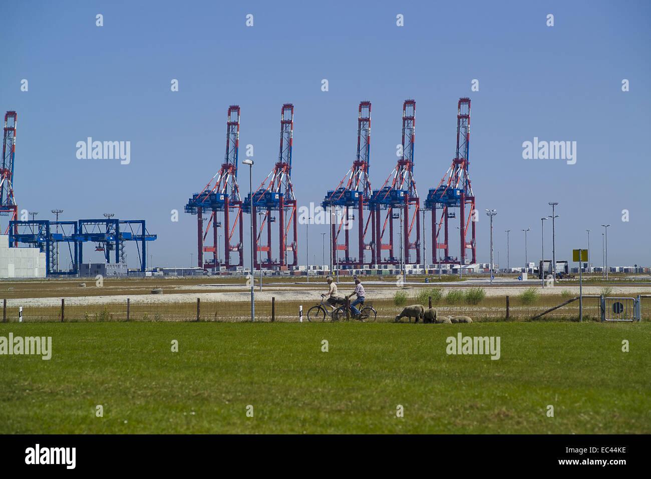 Weser Jade Port Stock Photo