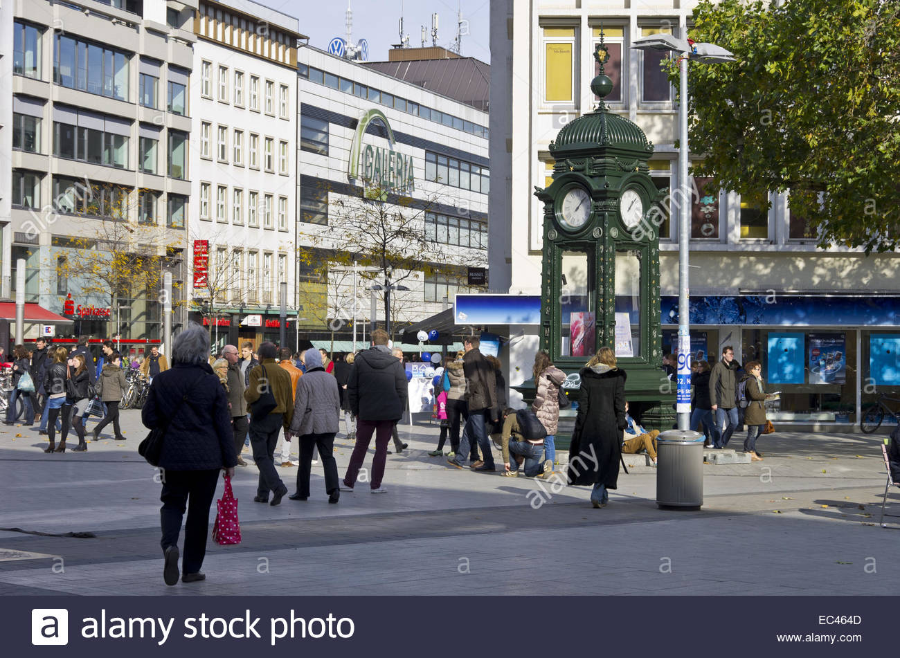 urban scene at the kropcke hannover germany stock photo. Black Bedroom Furniture Sets. Home Design Ideas