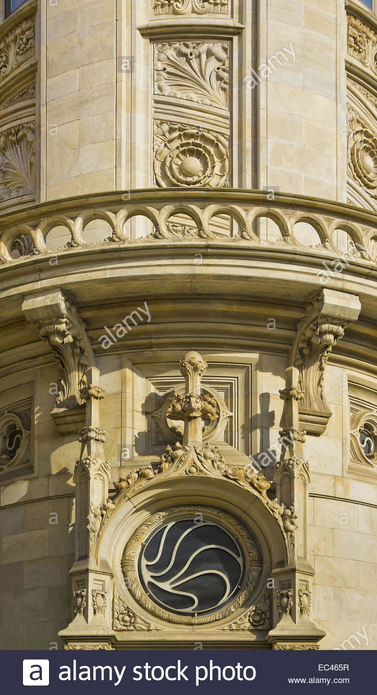 Neo Gothic Architectural Details At The Building Of Hannoversche Bank Nowadays Domicile Deutsche