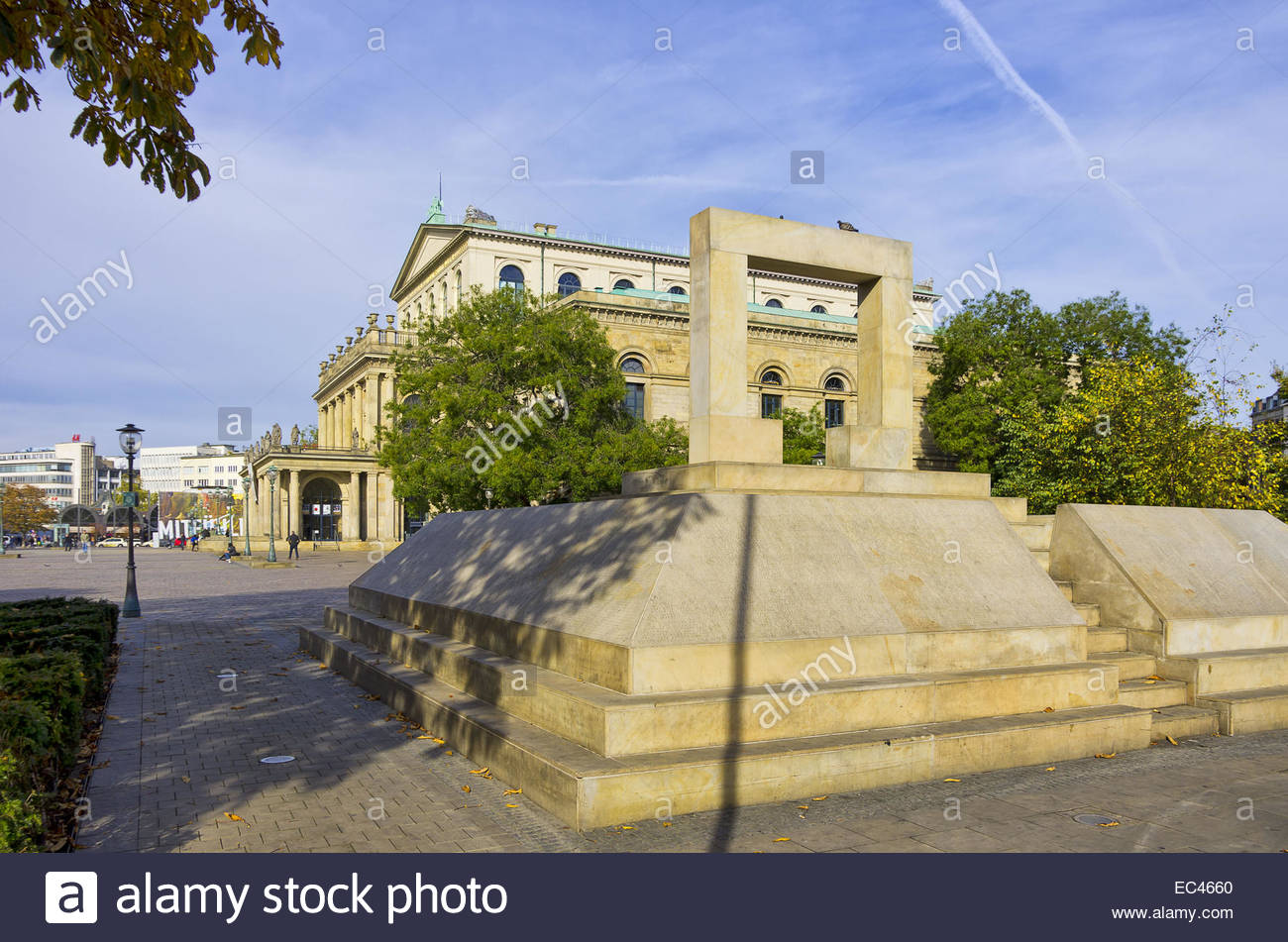 Memorial to the murdered jews of Hanover on the Opernplatz Square, Hannover, Germany Stock Photo