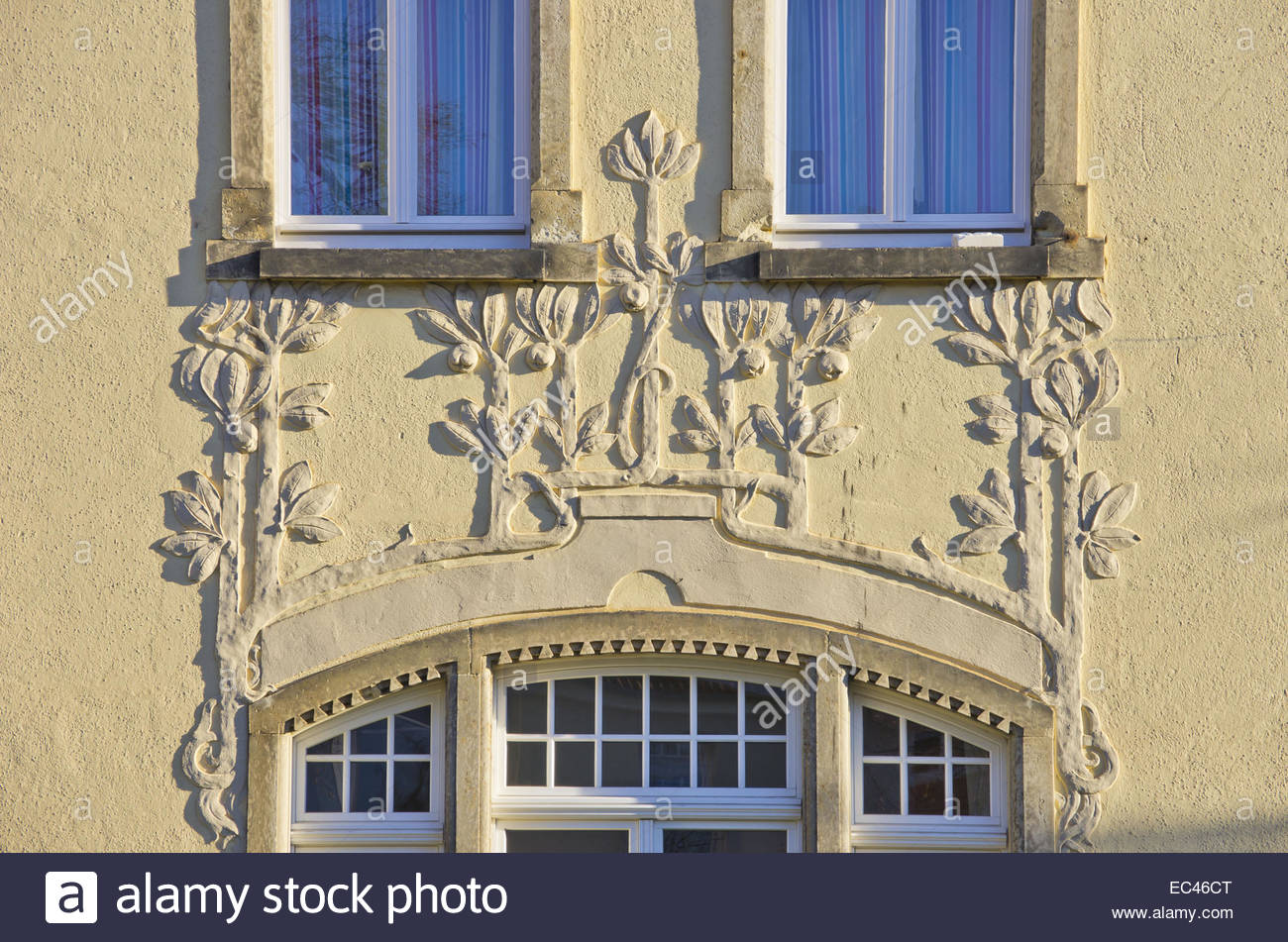 Adornment on a house front, Dresden, German - Stock Image