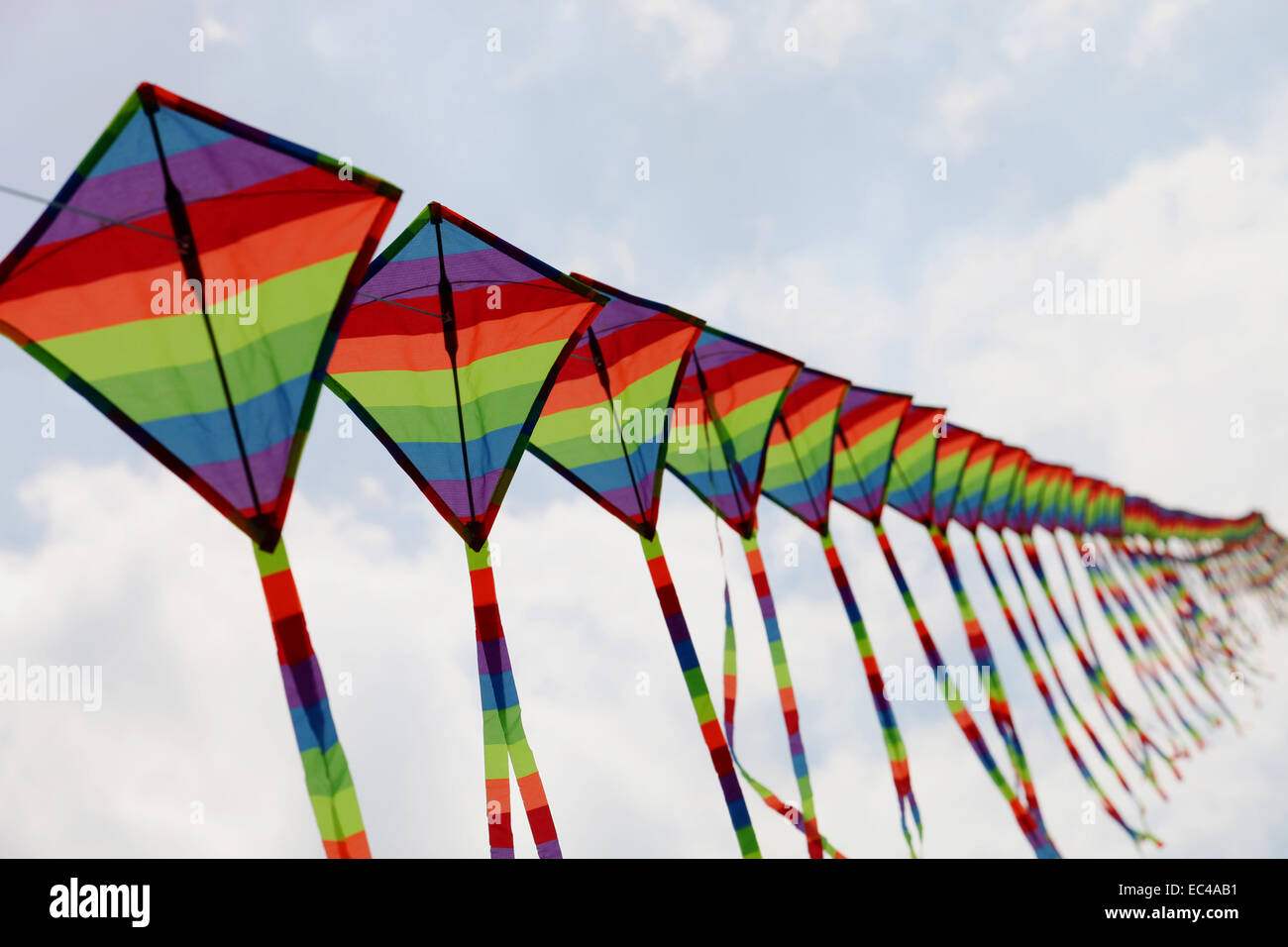 Kites on the sky Stock Photo
