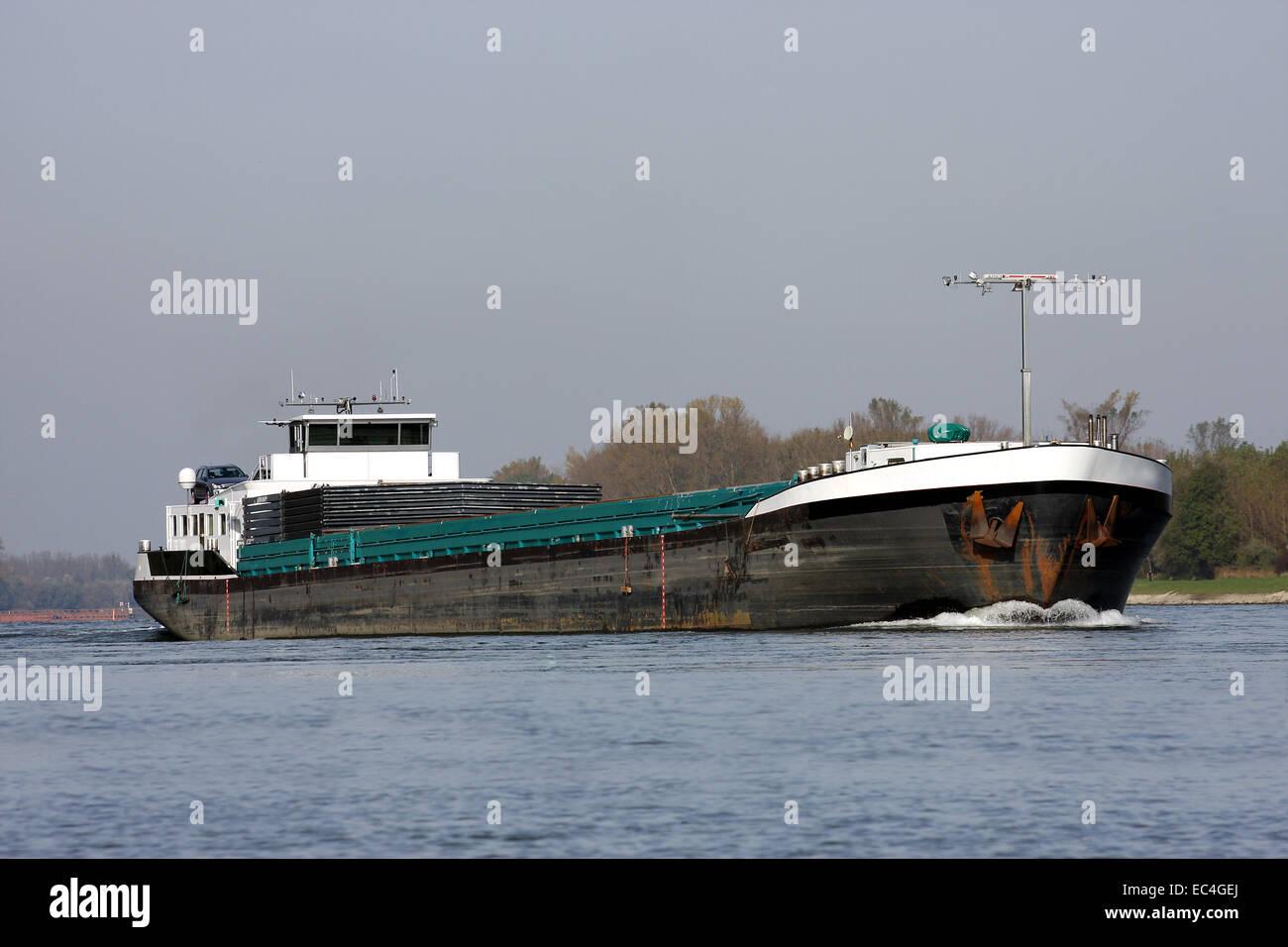 inland waterway traffic - Stock Image