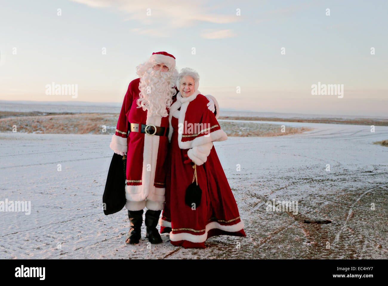 Santa Claus And Mrs Claus Visit A Remote Inuit Village As Part Of Operation Santa