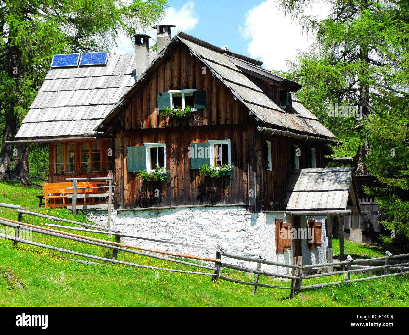 ALM huts hut on the mountain, Rennweg-Katschberg holidays, Bacher - Stock Image