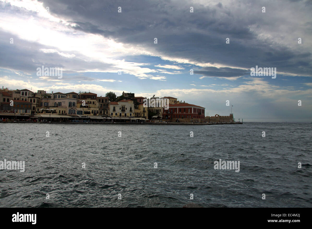 Storm, Chania, Krete Stock Photo
