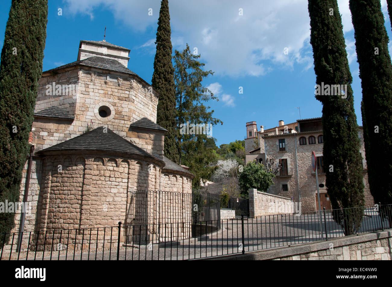 St Nichola´s church Girona Catalonia Spain Spanish Stock Photo