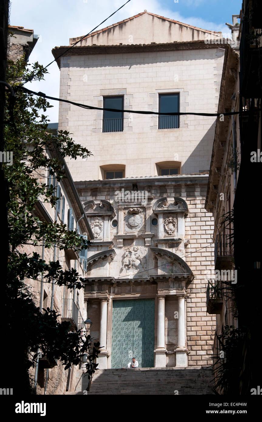 Girona  Pujada de Sant Domenec  -  Catalonia Spain Spanish Stock Photo