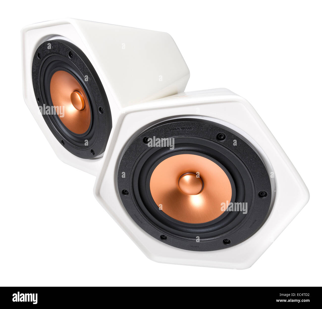 Unmonday wireless portable speakers. Apple airplay compatible. Streams audio to vitro porcelain ceramic speaker. - Stock Image