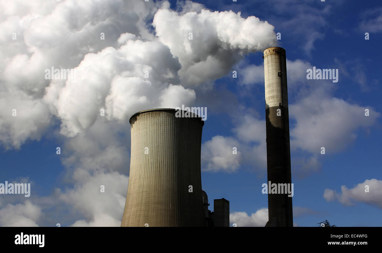 brown coal power station Stock Photo
