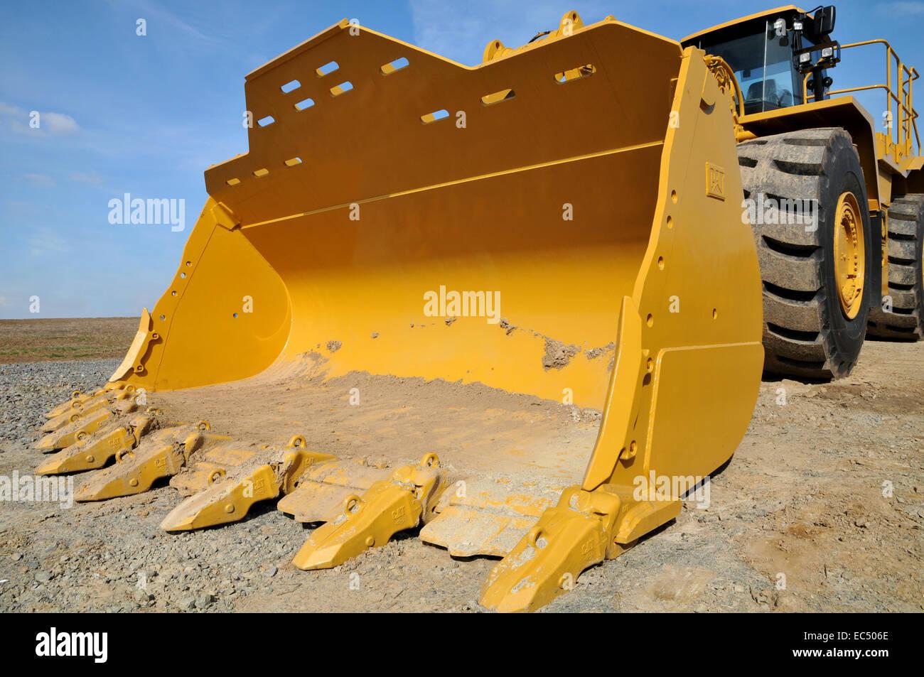 loaders excavators, - Stock Image
