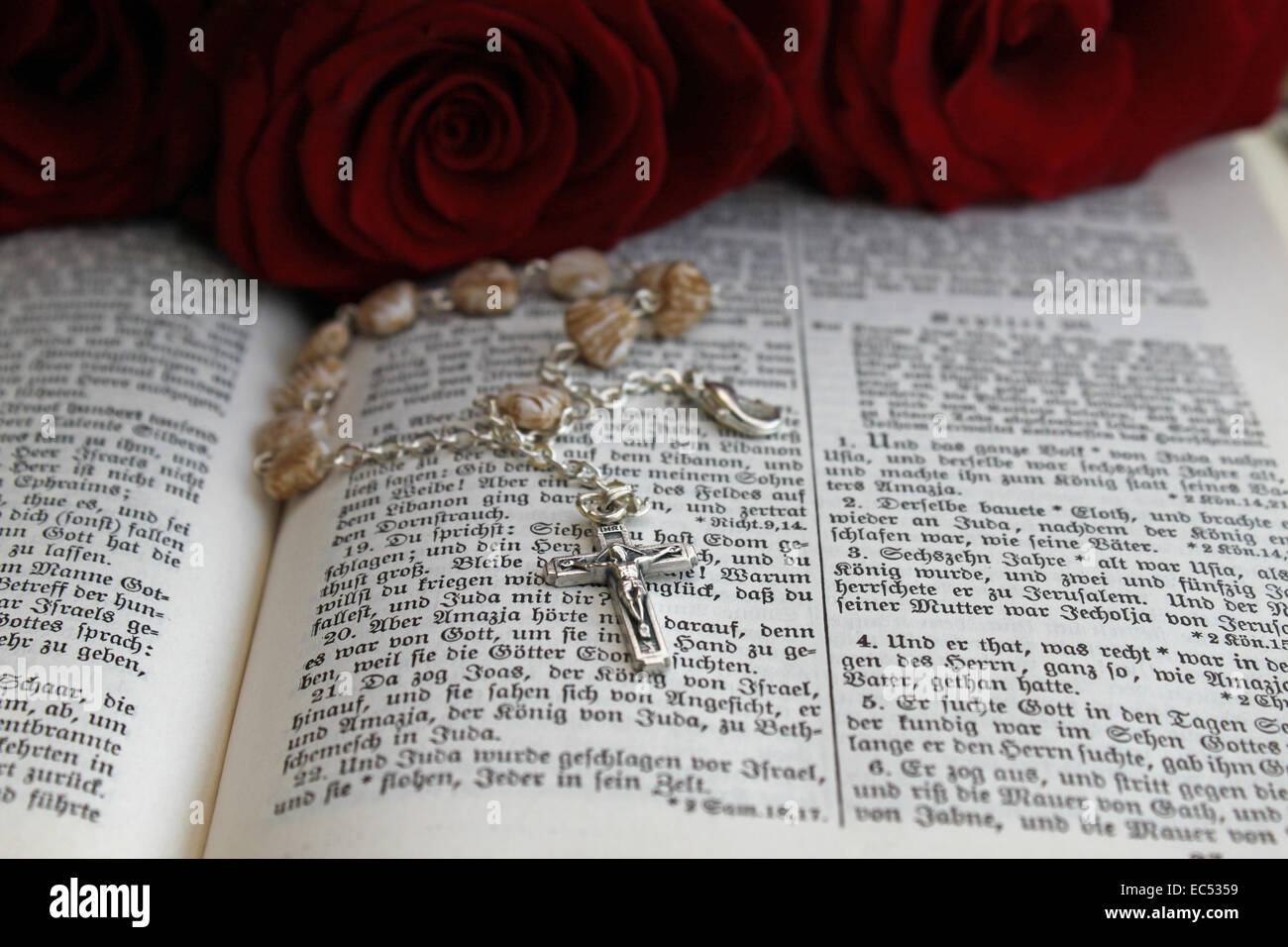 Rosary on the Holy Scriptures - Stock Image