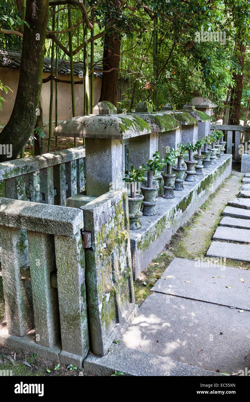Koto-in zen temple, Daitoku-ji, Kyoto, Japan. The temple cemetery - Stock Image
