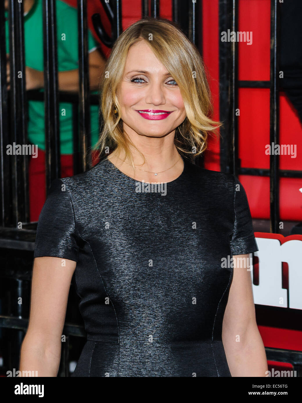 New York, USA. 7th December, 2014.  Cameron Diaz Arrives at the New York City Premiere of 'Annie' at The - Stock Image
