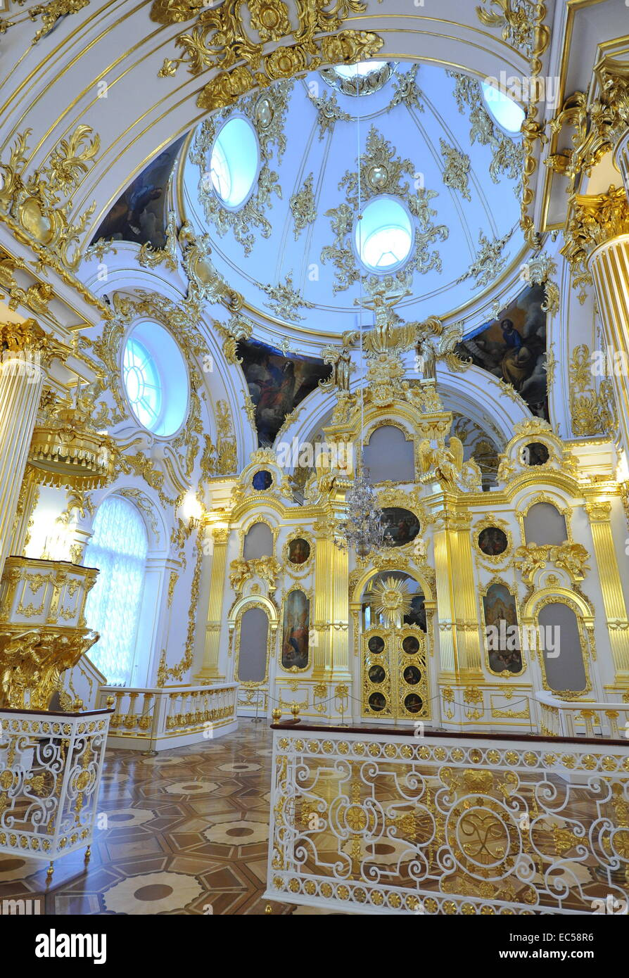 St. Petersburg, Russia. 9th Dec, 2014. The opening of the renovated Grand Church of the Winter Palace. The event - Stock Image