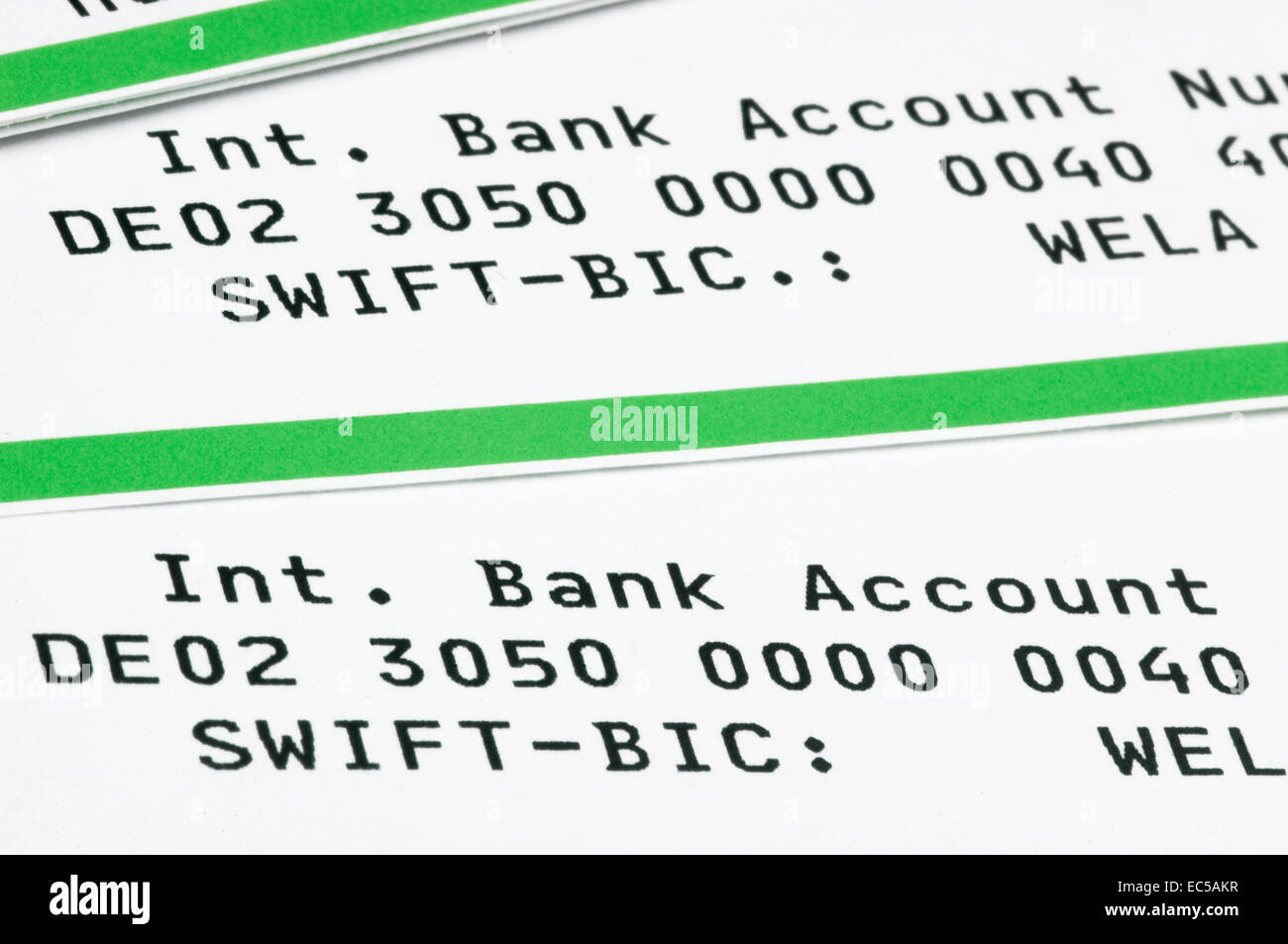 Statement Of Bank Account Stock Photos & Statement Of Bank Account