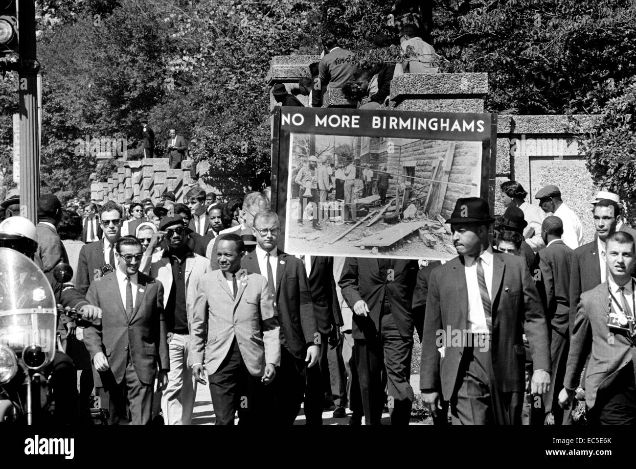 Congress of Racial Equality conducts march in memory of Negro youngsters killed in Birmingham bombings, All Souls - Stock Image