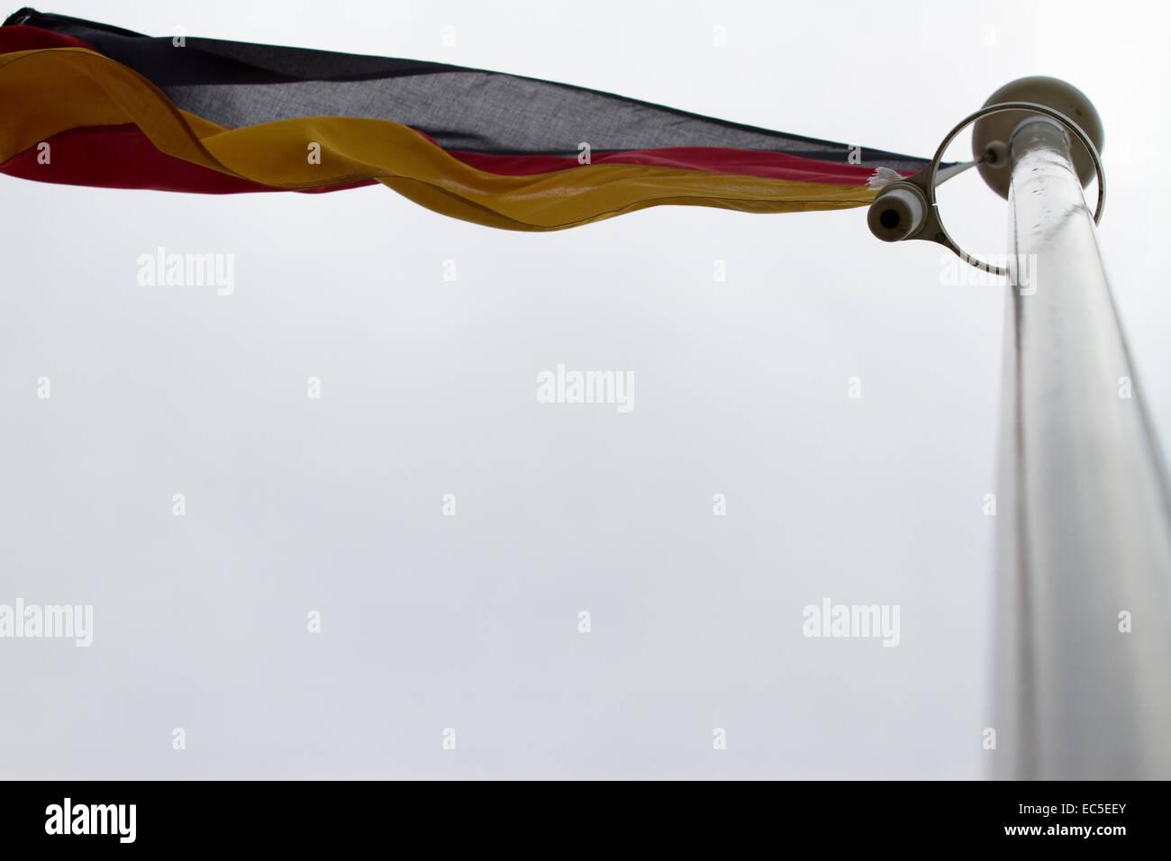 fluttering flag Stock Photo