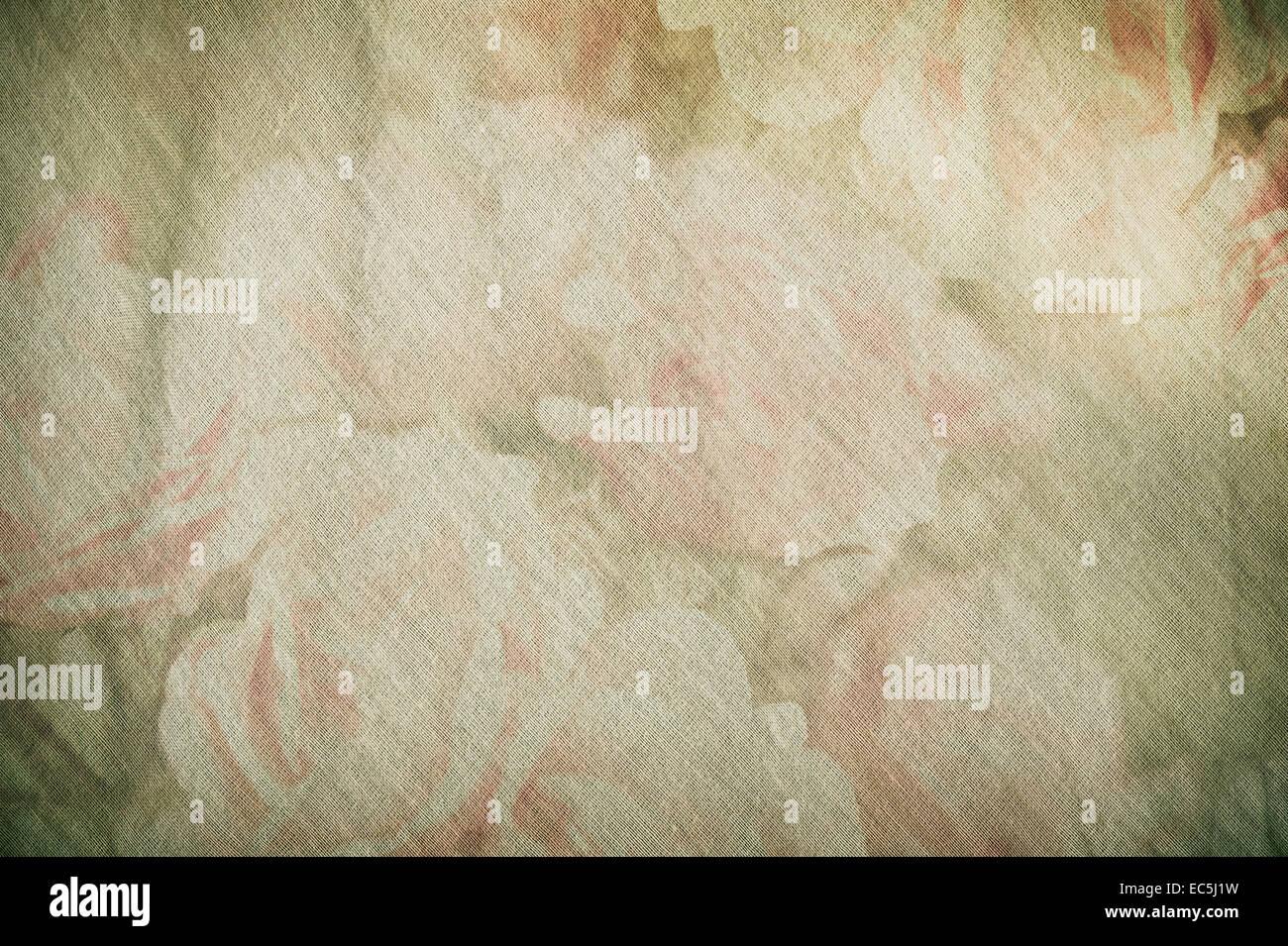 Vintage silk cotton roses texture decoupage Stock Photo
