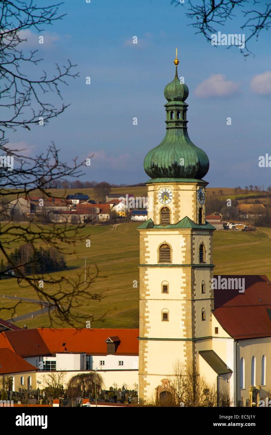 Pilgrimage Church Neukirchen, Bavaria, Germany, Europe - Stock Image