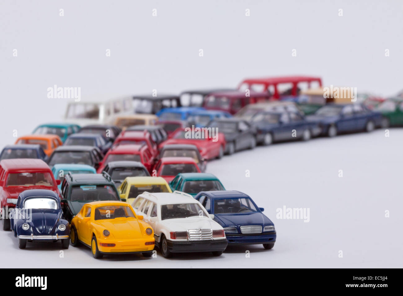 A long line of cars waiting for the onward journey Stock Photo ...