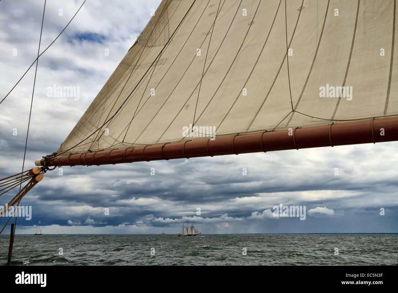 Sailing Ships at the Baltic Sea - Stock Image