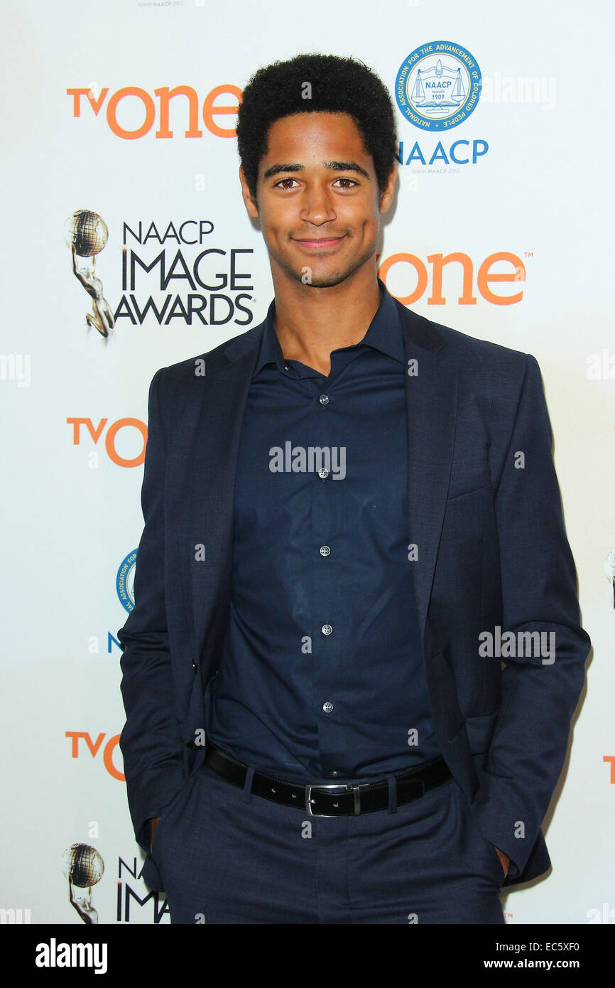Los Angeles, California, USA. 9th Dec, 2014. Alfred Enoch attends 46th NAACP Image Awards Nomination Announcement Stock Photo