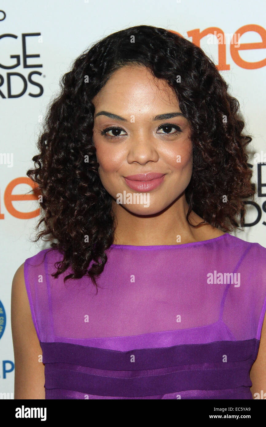Los Angeles, California, USA. 9th Dec, 2014. Tessa Thompson attends 46th NAACP Image Awards Nomination Announcement Stock Photo