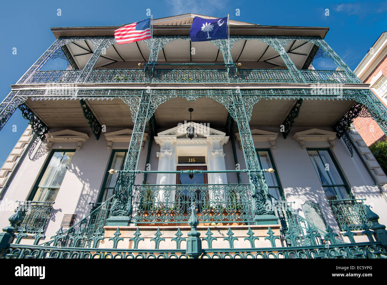 John Rutledge House - an example of traditional residential architecture in Charleston, SC - Stock Image