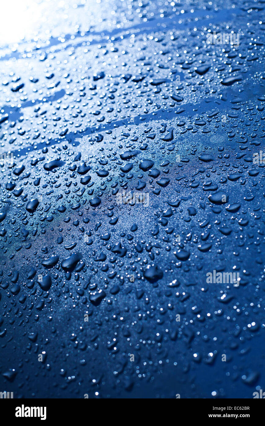 waterdrop on a car - Stock Image