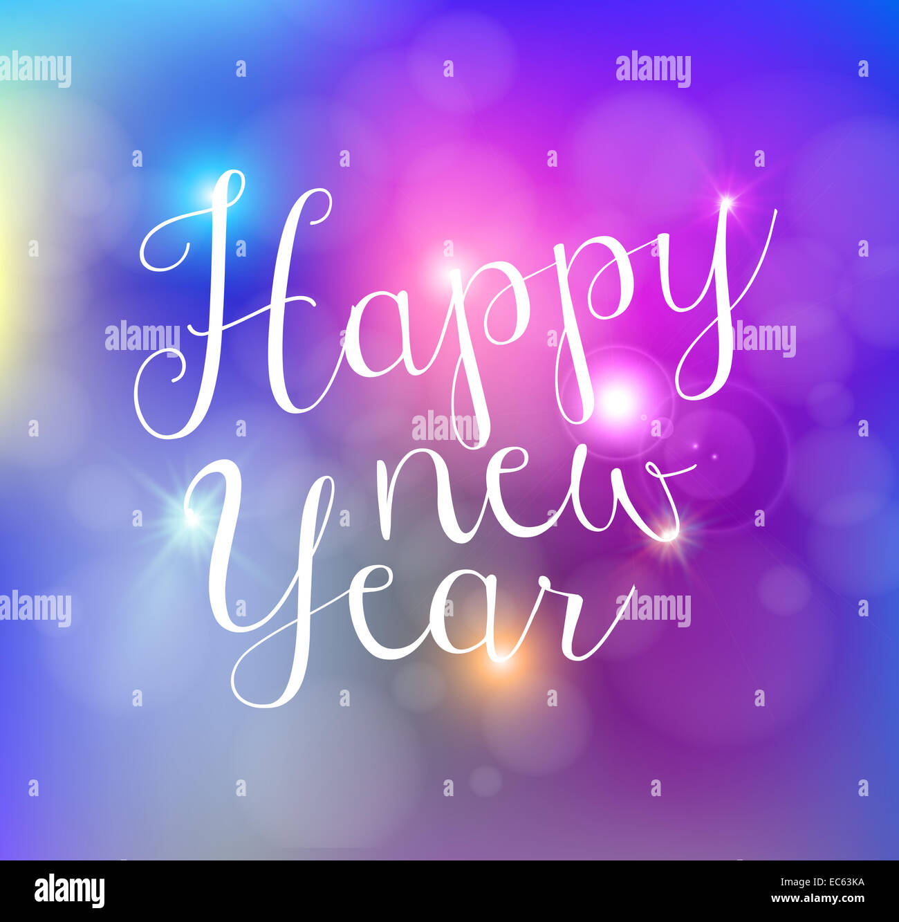 happy new year bokeh lights greeting card background eps10 illustration with transparency organized in layers for easy editing