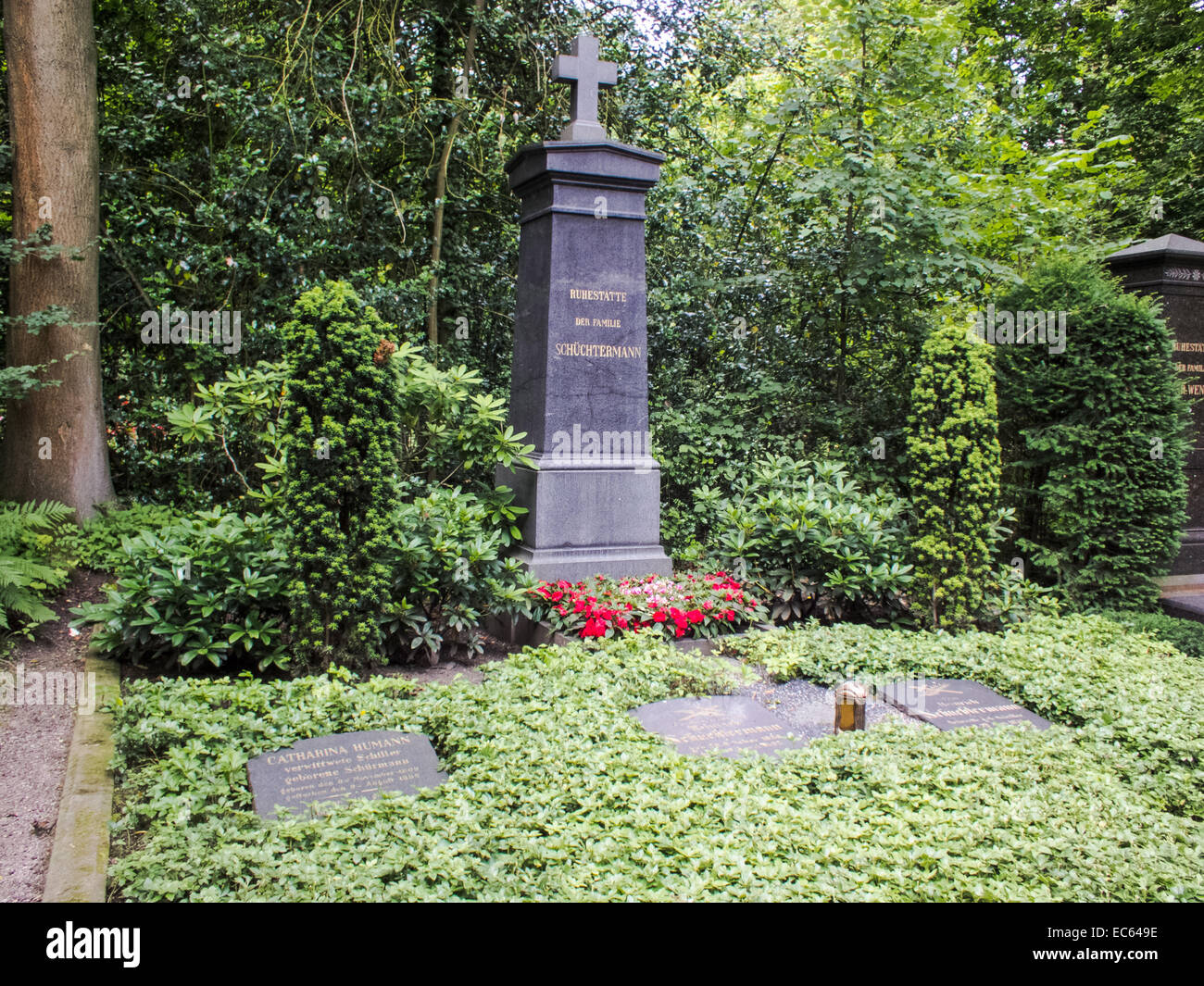 eastern cemetery Dortmund, financial aristocracy - Stock Image