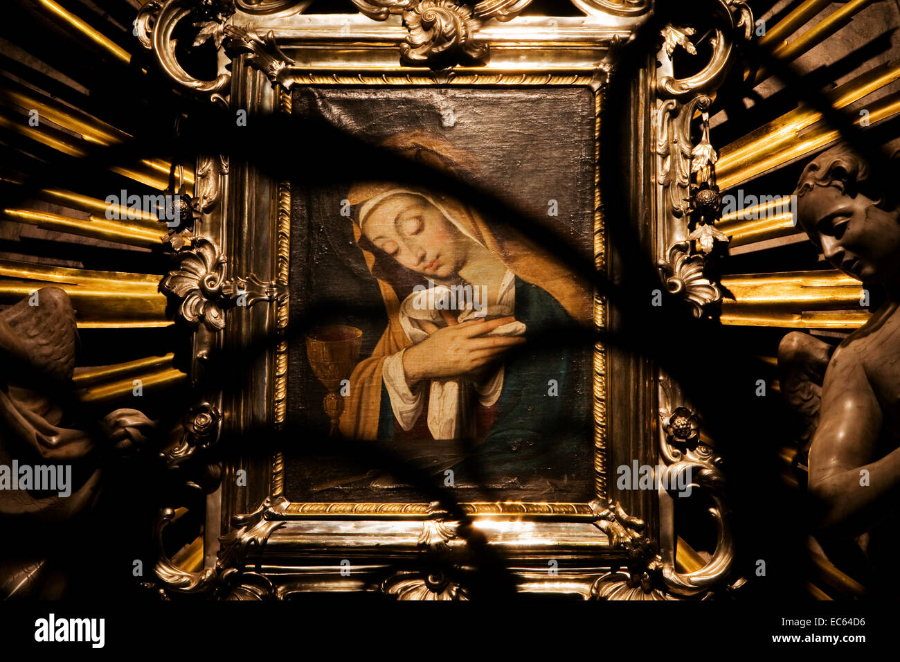picture of the Virgin Mary in the Dom of Graz, Styria, Austria, Europe Stock Photo
