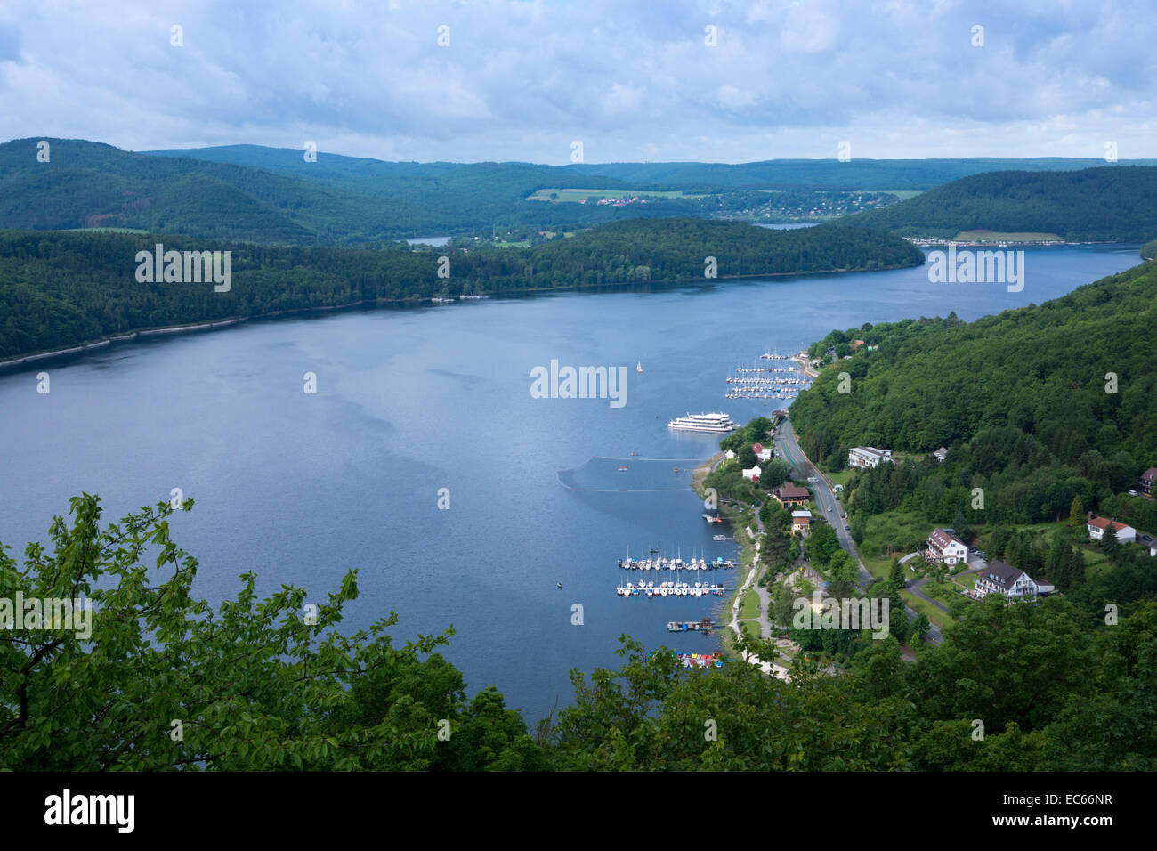 Edersee lake, Northern Hesse, Germany, Europe Stock Photo