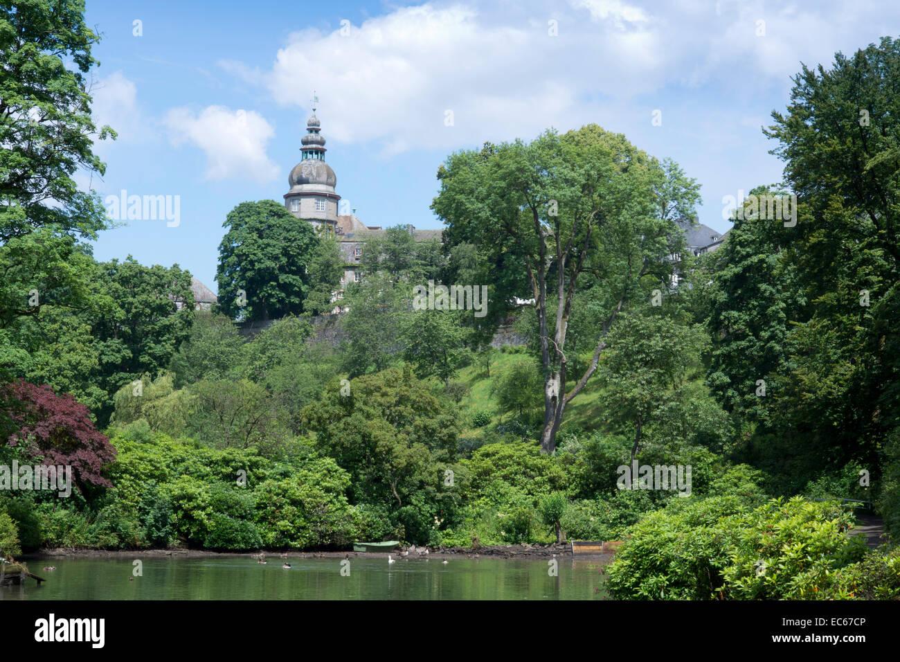 Schloss Berleburg Castle, Bad Berleburg, district Siegen Stock Photo ...