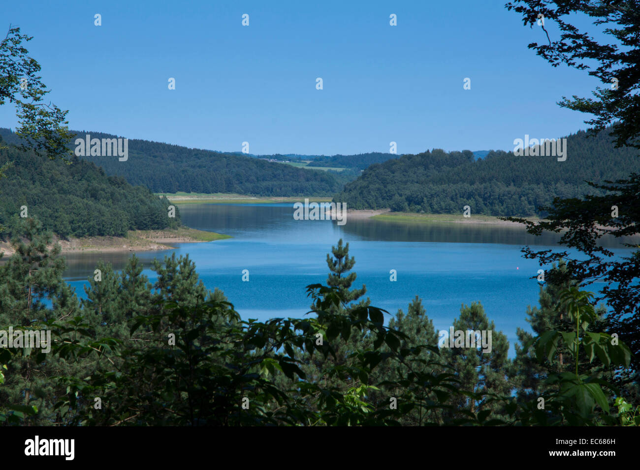 Große Dhünntalsperre, Great Dhuenntal Dam, Rheinisch Bergischer Kreis, Bergisches Land, North Rhine Westphalia, Stock Photo