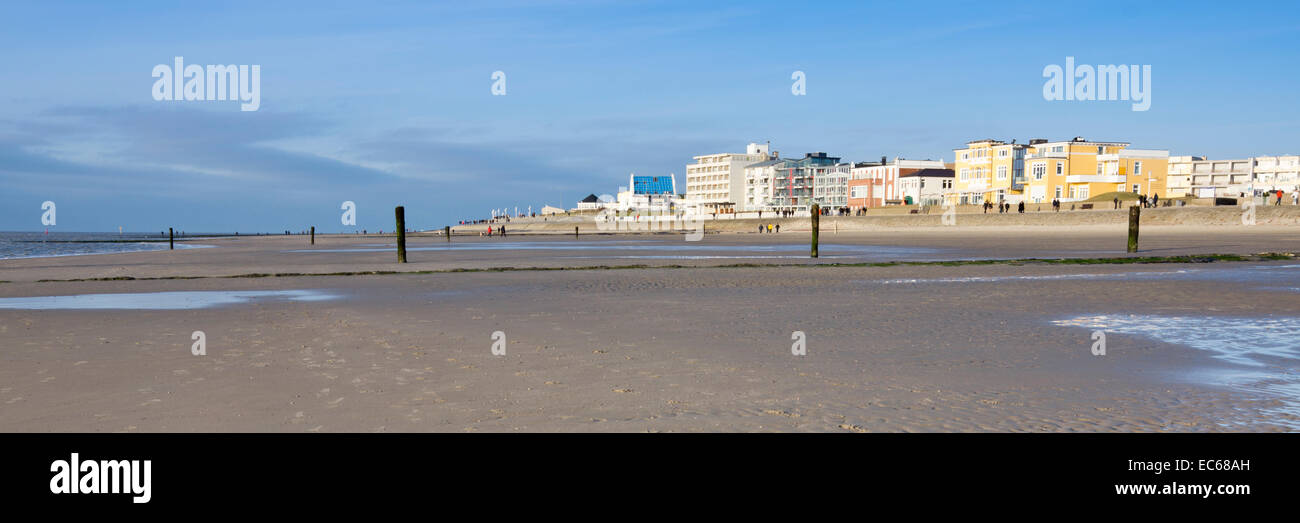 Weststrand beach, Norderney, East Frisian Islands, North Sea, East Frisia, Lower Saxony, Germany, Europe Stock Photo