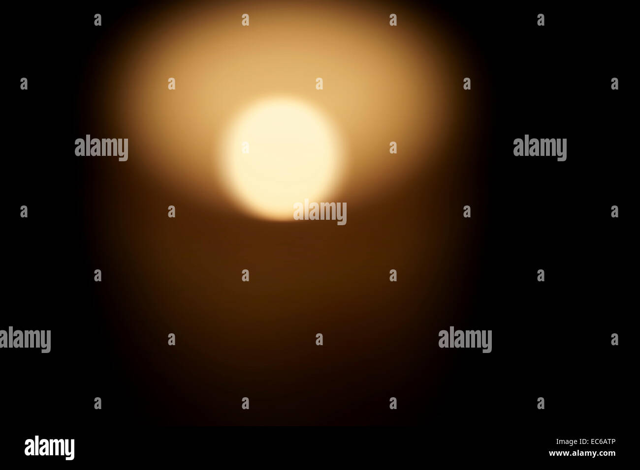 Diffuse candlelight - Stock Image